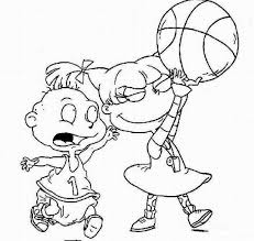Nick Jr Basketball Coloring Pages