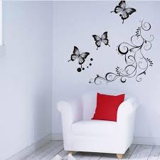 Wholesale Butterfly Flowers Wall Art Living Room Diy Removable Paper Decor Bedroom Decals Home Decoration Plant Poster Wallpaper Hd In Desktop