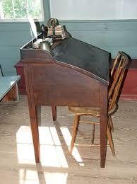 one room house fiction and desks