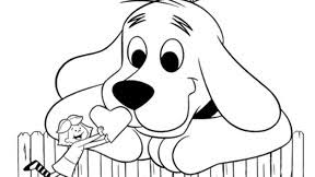 Color The Big Red Dog And His Cute Canine Companions