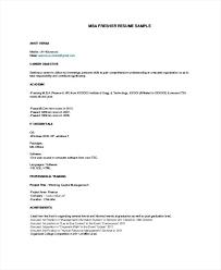 Mba Resumes Best Resume Sample Pdf