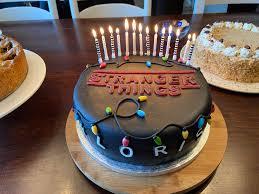 things cake for my birthday strangerthings