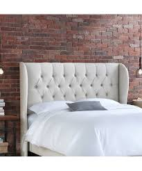 Skyline Tufted Wingback Headboard King by Skyline Furniture Linen Talc Tufted Wingback Headboard Zulily