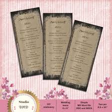 Printable Menu Card Template Rustic Wedding Wood Background And Burlap DOWNLOAD Instantly EDITABLE TEXT MicrosoftR Word Format