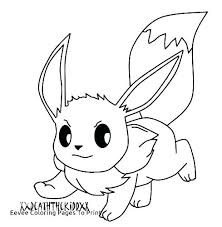 Pokemon Printable Coloring Pages Eevee To Print Colouring Medium Size Of Home For Color