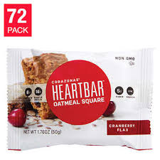 Cranberry Flax Oatmeal HeartBars 72 Pack