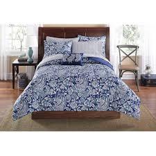 Mainstays Jaipur Paisley Bed in a Bag Set Blue Walmart