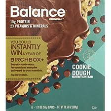 Balance Bar Cookie Dough176 Ounce 6 Count Pack Of 3