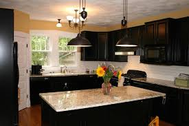 Kitchens With Dark Cabinets And Light Countertops by Kitchen Design Amazing Awesome Black Kitchen Cabinets Black