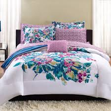 Walmart Bedding Sets Twin by Mainstays Floral Bed In A Bag Bedding Set Walmart Com