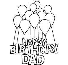 Birthday Coloring Pages For Daddy Eliolera