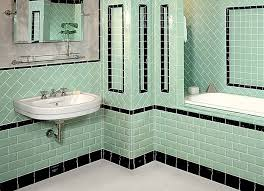 stylist design 1930s bathroom ideas with colorful tile semi small