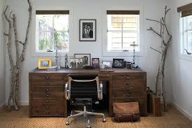 Rustic Office Decor Home With Wall Art Desk Chair