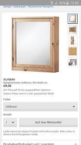 ikea silverån bad spiegelschrank in 13353 berlin für 59 00