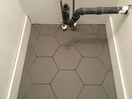 Grey Tiles With Grey Grout by Grey Hexagon Floor Dark Or Light Grout