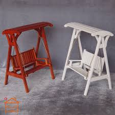 1 12 Scale Wooden Swing 68 Doll Miniature Garden Dollhouse Furniture B023