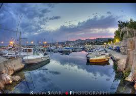 marseille coucher de soleil sur le port de l estaque photo et
