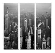 sur toile buildings new york noir et blanc usa guillaume plisson