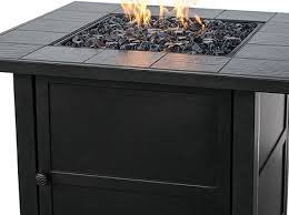 lp gas outdoor pit with slate mantel