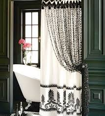 Black And White Flower Shower Curtain by Black And White Floral Curtain U2014 Smith Design Black And White