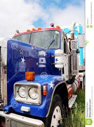 100 Show Semi Trucks Peterbuilt Truck With Stars Stripes Paint Stock Image Image