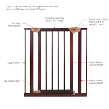 Summer Infant Decor Extra Tall Gate Instructions by Amazon Com Baby Trend Tall Pressure Fit Wood And Metal Gate