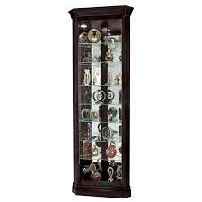 mahogany lighted corner curio cabinet ikea for home furniture