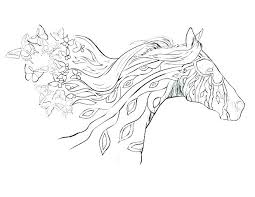 Printable Arabian Horse Coloring Pages Free Realistic Packed With Horses Detailed Rela