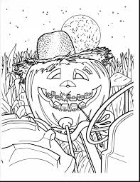 Stunning Hard Halloween Coloring Pages To Print With Black History Month And