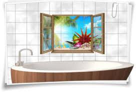 fliesen aufkleber fliesen bild fenster seestern muschel pflanzen palmen wolken bad wc aufkleber folie deko