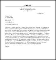 Professional General Laborer Cover Letter Sample & Writing Guide