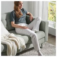 landskrona 5er sofa mit récamieren gunnared hellgrün
