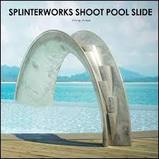 The Carbon Fibre Silver Leaf SplinterWorks Shoot Pool Slide