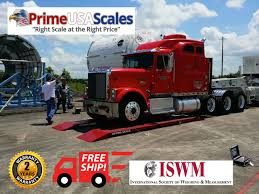 100 Portable Truck Scale Axle 12ft Optima OP923 60000 Lb Printer