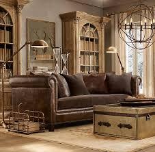 Transitional Living Room Leather Sofa by Attractive Restoration Hardware Living Room Ideas U2013 Restoration