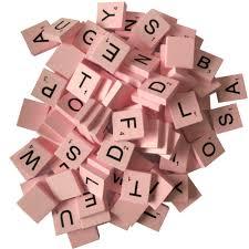 Standard Scrabble Tile Distribution by Amazon Com 200 Wood Letter Scrabble Tiles Pink Color 2