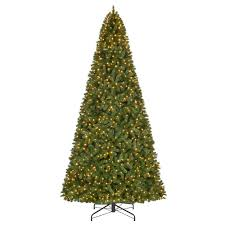12 Ft Pre Lit LED Wesley Spruce Artificial Christmas Tree With 1100
