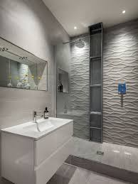tiles with texture feel stylish white textured bathroom