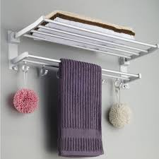 Bathroom Wall Shelves With Towel Bar by Bathroom Fill Your Bathroom With Classy Hotel Towel Rack For