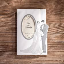 Wholesale 50pcs LotLaser Cut Wedding Invitations Paper CardsLove Couple Printable Favors Convite Do Casamento Rustic Supplies