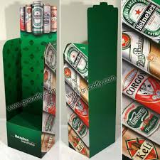 Heineken Beer Corrugated Floor Standing Display Rack