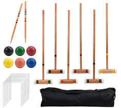 Amazon.com : Crown Sporting Goods Six Player Deluxe Croquet Set ... Backyard Games Book A Cort Sinnes Alan May Deluxe Croquet Set Baden The Rules Of By Sunni Overend Croquet Backyard Sei80com 2017 Crokay 31 Pinterest Pool Noodle Soccer Ball Kids Down Home Inspiration Monster Youtube Garden Summer Parties Let Good Times Roll G209 Series Toysrus 10 Diy For The Whole Family Game Night How To Play Wood Mallets 18 Best And Rose Party Images On