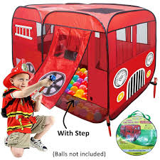 Large Fire Truck Pop-Up Play Tent (with Step) At Front Door - Great ... Large Toy Fire Engines Wwwtopsimagescom 1pcs Truck Engine Vehicle Model Ladder Children Car Assembling Large Fire Truck Toy Cars Multi Functional Buy Csl 132110 Sound And Light Version Of Alloy Amazing Dickie Toys Large Fire Engine Toy With Lights And Sounds 2 X Rescue Extinguisher Toys Tools Big Tonka Trucks Related Keywords Suggestions Tubelox Deluxe 220 Set Tubeloxcom Wooden Amishmade Amishtoyboxcom Iplay Ilearn Shooting Water Lights N Sound 16 With Expandable Bump Kids Folding Ottoman Storage Seat Box Down