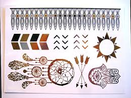 Classy TatsFlash TattoosMetallic Gold Silver Temporary Tattoo