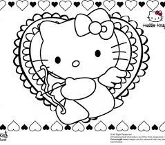 Hello Kitty Valentine Coloring Pages Minister Print