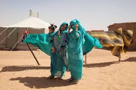 Sisters Jadija And Sara Salic Photographed At Auserd Refugee Camp Sahara Picture Clare