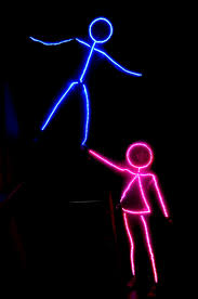 Diy Halloween Pathway Lights by Led Stick Figure Halloween Costume Halloween Pinterest Led