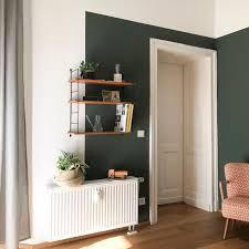 kolorat zuhausebeikolorat wandfarbe grün dunkelgrün