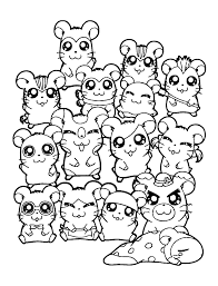 All Hamsters Characters Coloring Page Free