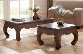 tisch 110cm massiv akazie wohnzimmer tisch uvp 209 neu